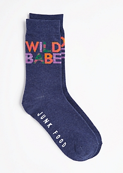 Wild Babe Geo Crew Socks by Junk Food®
