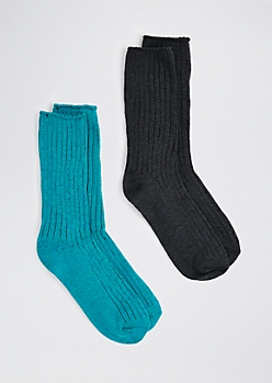 Blue Boot Sock Duo