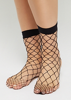 Black Exploded Fishnet Socks