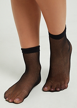 Black Small Fishnet Socks