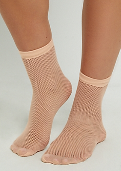 Pink Small Fishnet Socks