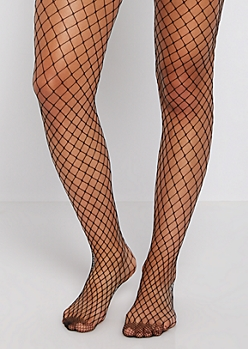 Classic Black Fishnet Tights