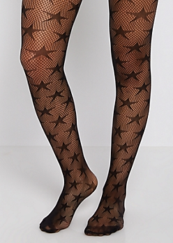 Starry Fishnet Tights