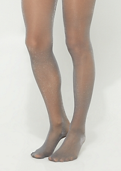 Gray Shimmer Tights