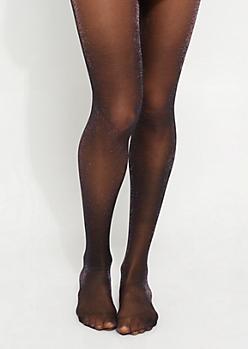 Black Multi Shimmer Tights