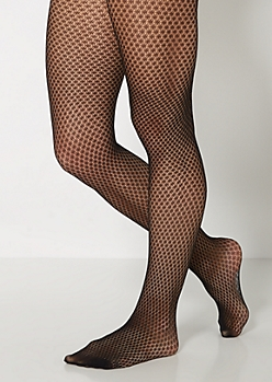 Openwork Netted Tights
