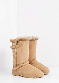 Sand Braided Buckle Solemate Boot