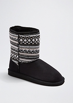 Black Aztec Knit Solemate