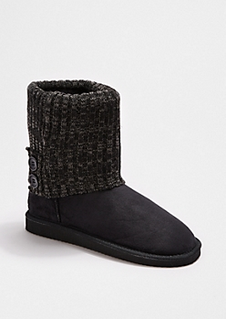 Black 2-Button Sweater Cuff Solemate