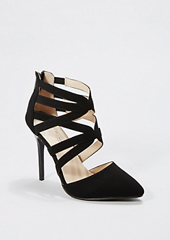 Black Cross Strap Pump by Anne Michelle®