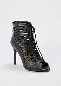 Caged Lace-Up Heel by Anne Michelle®