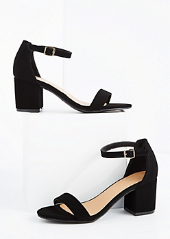 Black Strapped Mid Heel By Bamboo®
