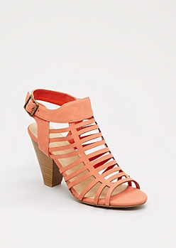 Coral Caged Heel By City Classified®
