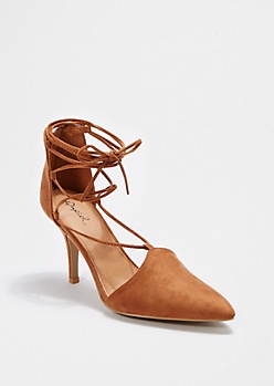 Camel Laced-Up Heel By Qupid®