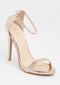 Rose Gold Textured Metallic Stilettos