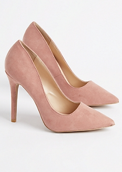Pink Faux Suede Stiletto Heel By Qupid