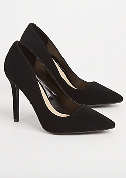 Black Pointed Toe Stiletto By Qupid