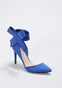 Royal Oversized Bow Pointed Toe Heel