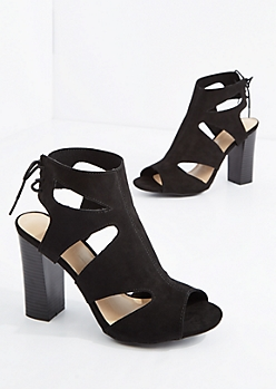 Black Cut-Out Heel By Wild Diva®