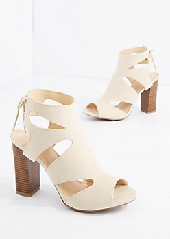 Nude Cut-Out Heel By Wild Diva®