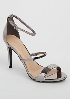 Pewter Open Toe Stiletto By Wild Diva