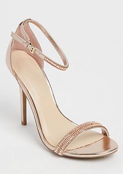 Rose Gold Stone Embellished Stiletto By Wild Diva
