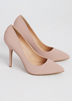 Pink Faux Suede Stiletto Heel By Wild Diva
