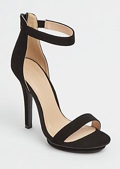 Black Ankle Strap Stilettos