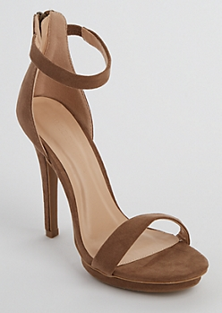 Taupe Faux Suede Stiletto By Wild Diva