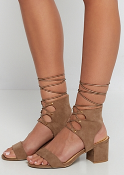 Tan Studded Ankle Shootie by Wild Diva®