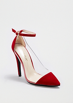 Red Pointed Toe Heel By Liliana®