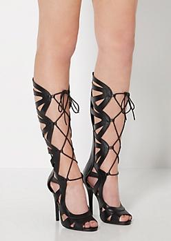 Gladiator Scalloped High Heel