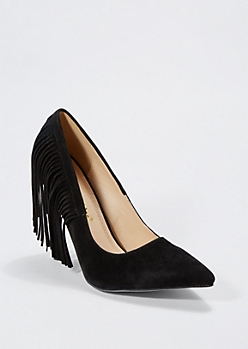 Black Fringed Pump by Chase & Chloe®