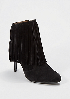 Black Fringed Bootie by Chase & Chloe®