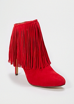 Red Fringed Bootie by Chase & Chloe®