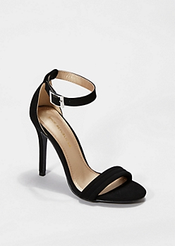 Black Microgore Open Toe Heel By Shoe Republic®