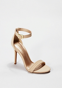 Nude Microgore Open Toe Heel By Shoe Republic®