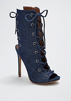 Denim All Laced Up Heel By Shoe Republic®