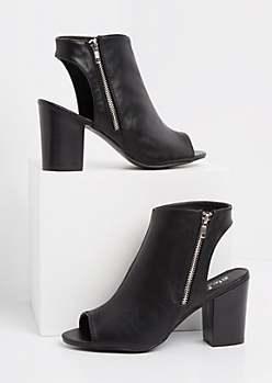 Black Peep Toe Shootie