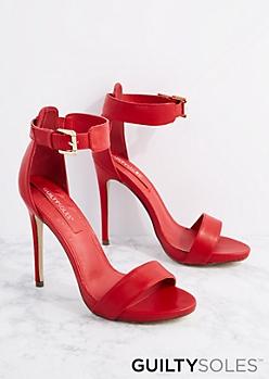 Red Cheyanne Open Toe Heel By GuiltySoles