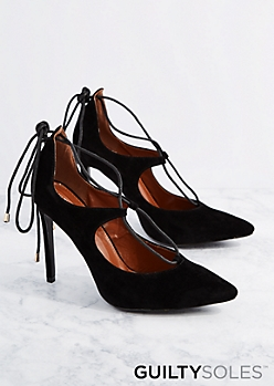 Black Dakota Lace-Up Pump By GuiltySoles