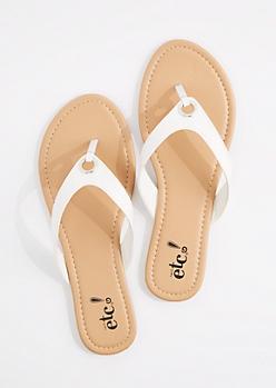 White Grommet Flip Flop