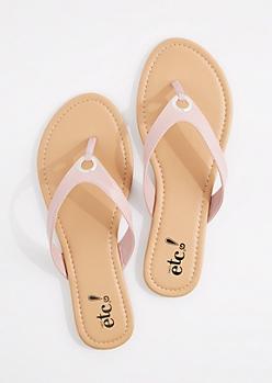 Pink Grommet Flip Flop