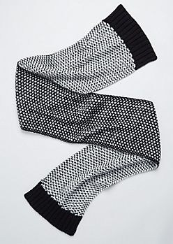 Black & White Dot Stitched Scarf