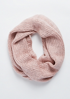 Pink Marled Infinity Scarf