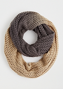 Chunky Ombre Infinity Scarf