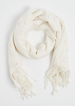 Ivory Speckled Blanket Scarf