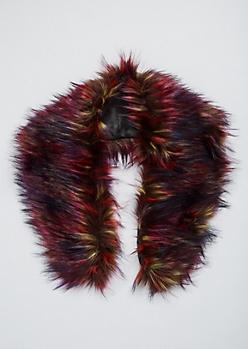 Multi Color Faux Fur Collar