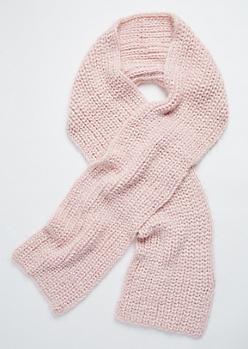 Light Pink Eyelash Knit Scarf