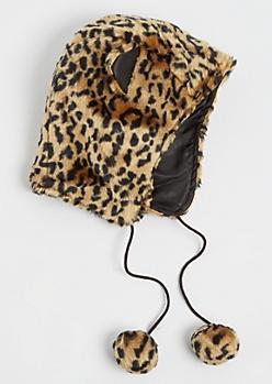 Leopard Faux Fur Trapper Hat